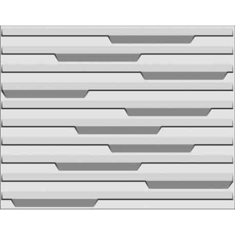 Piano, paneel bestaande uit natuurlijke plantvezels, geperst tot een 3D paneel, afmeting 625x800 mm,