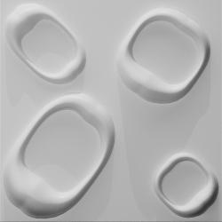 Karol, paneel bestaande uit natuurlijke plantvezels, geperst tot een 3D paneel, afmeting 500x500 mm,